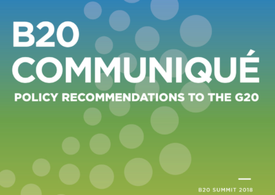 B20 Communiqué – Policy Recommendations to the G20
