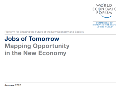 Jobs of Tomorrow – Mapping Opportunity in the New Economy