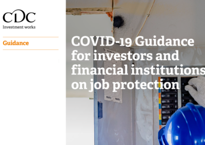 COVID-19 Guidance for investors and financial institutions on job protection