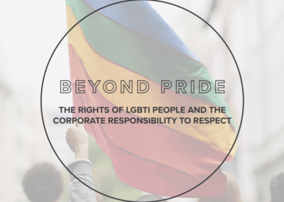 Beyond Pride: Rights of LGBTI People & Corporate Responsibility to Respect